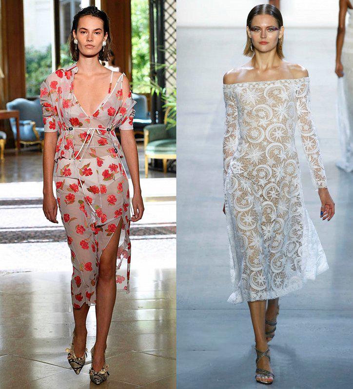 Белое полупрозрачное платье