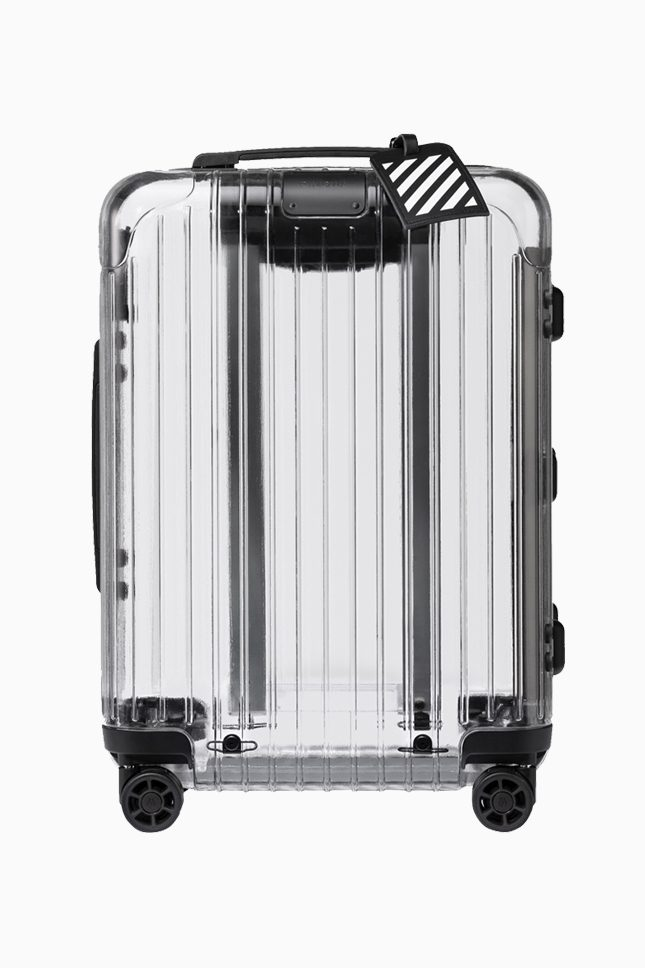 Прозрачный чемодан Off-White x Rimowa