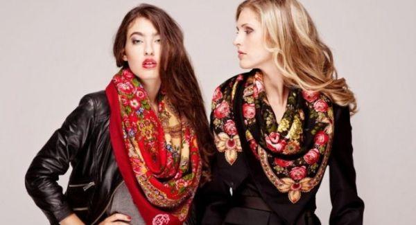 Как и с чем носить павлопасадский платок?