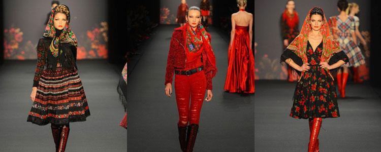 Павлопасадский платок на модных показах