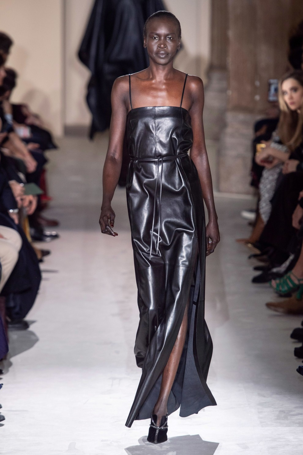 Кожаное платье Salvatore Ferragamo 2020