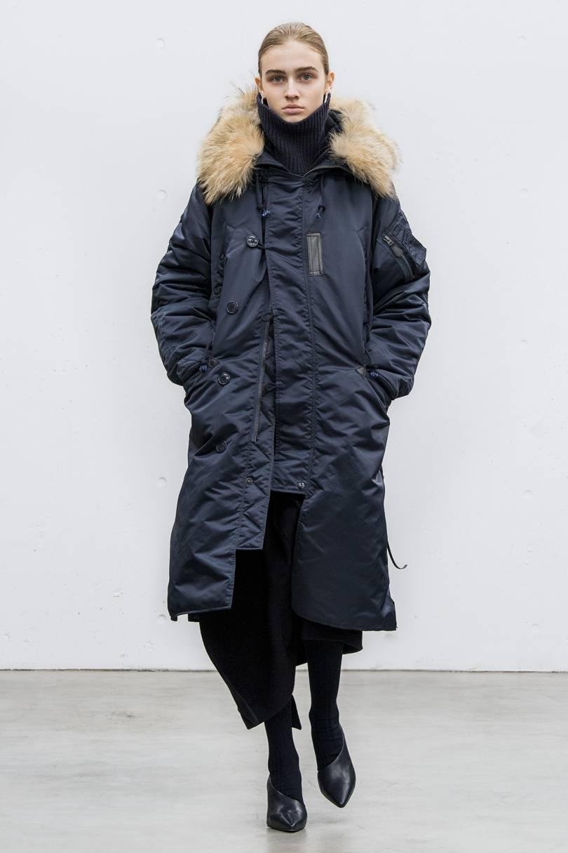 Длинная куртка парка