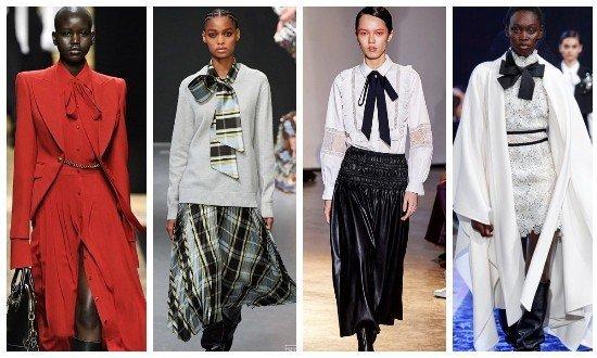 Как носить шейный платок осень-зима 2020-2021