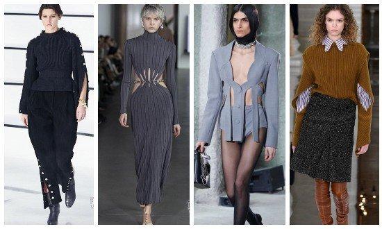 Платья с вырезами осень-зима 2021