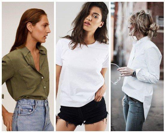 Базовые женские рубашки и футболки 2020